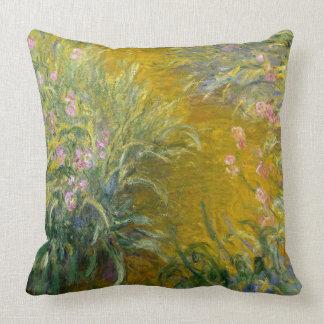 Trayectoria de la pintura de Monet del vintage a Cojín