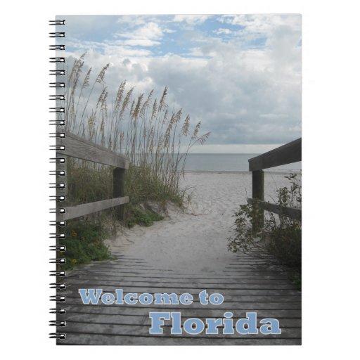 Trayectoria de la playa de la Florida Libretas Espirales