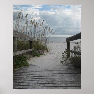Trayectoria de la playa de la Florida Póster