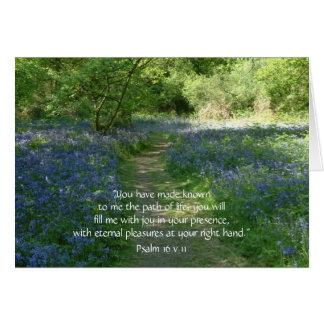 Trayectoria de los Bluebells de las tarjetas de fe