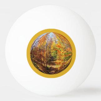 Trayectoria de oro en un diseño del globo del pelota de ping pong