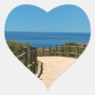 Trayectoria de Palos Verdes Pegatina En Forma De Corazón
