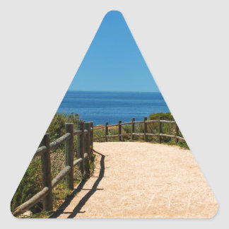 Trayectoria de Palos Verdes Pegatina Triangular