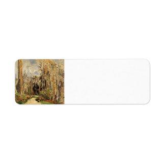 Trayectoria de Paul Cezanne- en la entrada al bosq Etiquetas De Remite