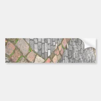Trayectoria de piedra de la arcilla etiqueta de parachoque