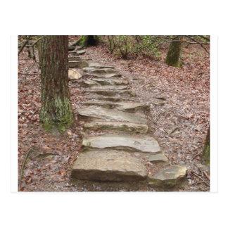 Trayectoria de piedra de la escalera en las caídas tarjetas postales