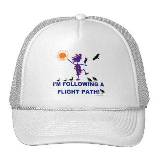 Trayectoria de vuelo de la observación de pájaros gorras
