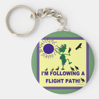 Trayectoria de vuelo de la observación de pájaros  llaveros
