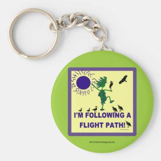 Trayectoria de vuelo de la observación de pájaros  llavero redondo tipo pin