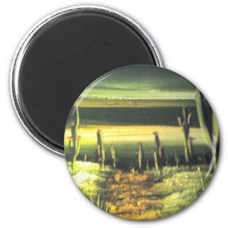 Trayectoria del desierto imán redondo 5 cm