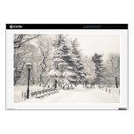 Trayectoria del invierno del Central Park - New Yo Calcomanías Para 43,2cm Portátiles