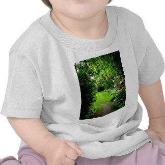 Trayectoria del jardín camiseta