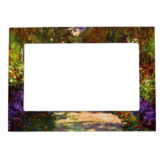 Trayectoria del jardín de Claude Monet Marcos Magneticos De Fotos