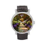 Trayectoria del jardín de Claude Monet Relojes De Pulsera