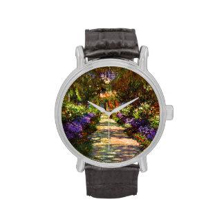 Trayectoria del jardín de Claude Monet Reloj