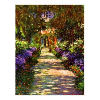 Trayectoria del jardín de Claude Monet Tarjetas Postales