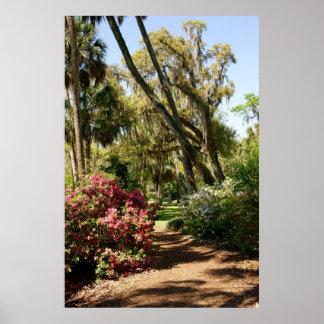 Trayectoria del jardín impresiones