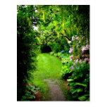 Trayectoria del jardín tarjetas postales