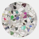 trayectoria del mosaico de la pizarra etiquetas redondas