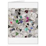 trayectoria del mosaico de la pizarra tarjetas