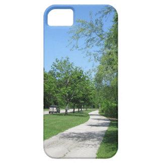 Trayectoria del parque de la primavera iPhone 5 carcasa