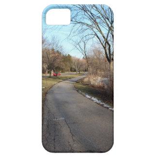 Trayectoria del parque del invierno iPhone 5 carcasas