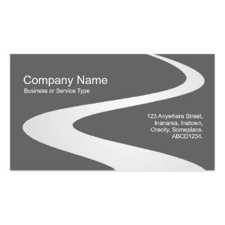 Trayectoria del zigzag - blanco (sombreado) en tarjetas de visita