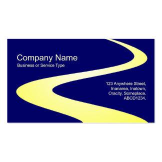 Trayectoria del zigzag - sombras del amarillo en a plantillas de tarjeta de negocio