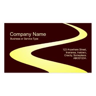 Trayectoria del zigzag - sombras del amarillo en tarjetas de visita