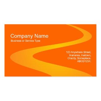 Trayectoria del zigzag - sombras del naranja tarjetas de visita