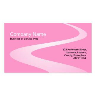 Trayectoria del zigzag - sombras del rosa tarjetas de visita