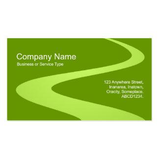 Trayectoria del zigzag - sombras del verde tarjetas de visita