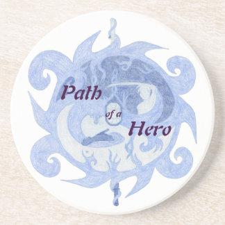 """""""Trayectoria emblema de un héroe"""" (con título) Posavasos Personalizados"""
