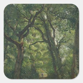 Trayectoria en el bosque, 1864 pegatina cuadradas personalizadas