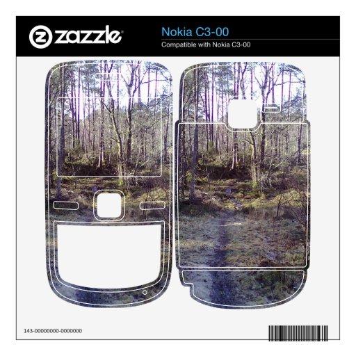 Trayectoria en el bosque skins para nokia c3-00