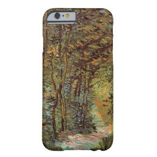Trayectoria en las maderas, bella arte de Van Gogh Funda Para iPhone 6 Barely There