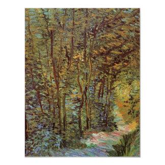 Trayectoria en las maderas, impresionismo de Van Invitación 10,8 X 13,9 Cm