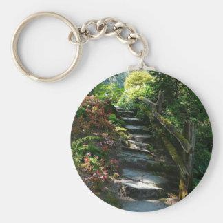Trayectoria encantada del jardín llavero redondo tipo pin