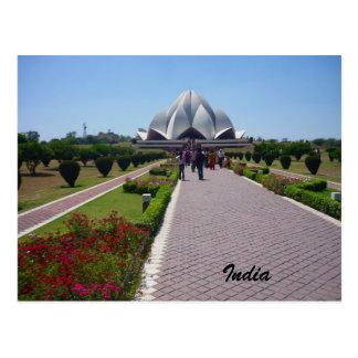 trayectoria la India del loto Postal