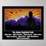 Trayectoria multiplicada por ocho noble Buda Poster
