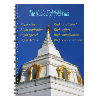 Trayectoria multiplicada por ocho noble budista cuaderno