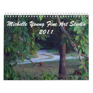 Trayectoria ocultada, bella arte joven Studio2011 Calendario