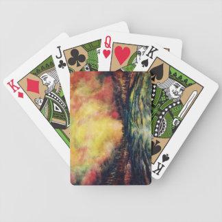 Trayectoria pacífica barajas de cartas