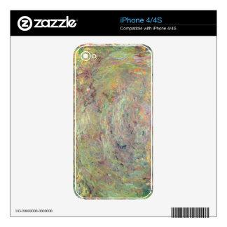 Trayectoria sombreada el | de Claude Monet Calcomanía Para El iPhone 4S