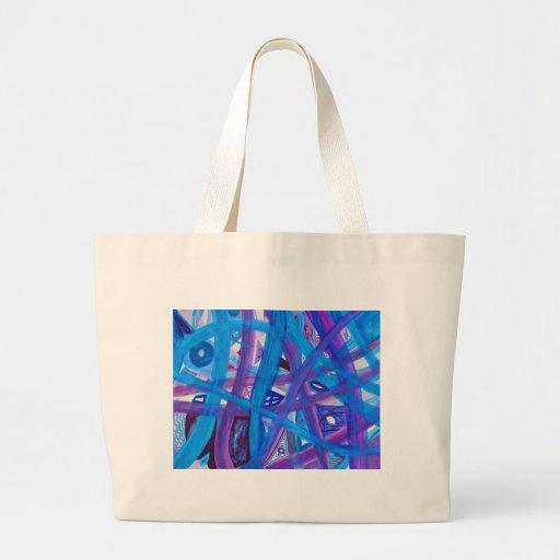 Trayectorias en extracto púrpura azul bolsas