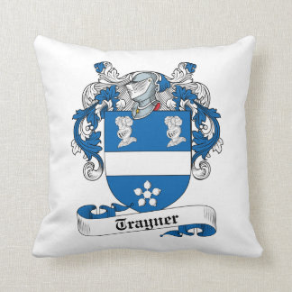 Trayner Family Crest Throw Pillow