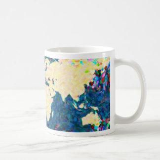 traza el mapa del mundo 2 del pointilism taza