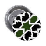 Trazado 09 de azulejo de geometría verde y negro pins