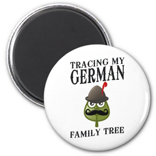 Trazado de mi árbol de familia alemán imán redondo 5 cm