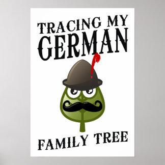 Trazado de mi árbol de familia alemán posters